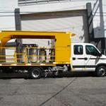 Caminhão de pintura viária sinalização