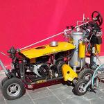 Máquina de pintura de sinalização viária