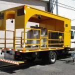 Caminhão pintura horizontal